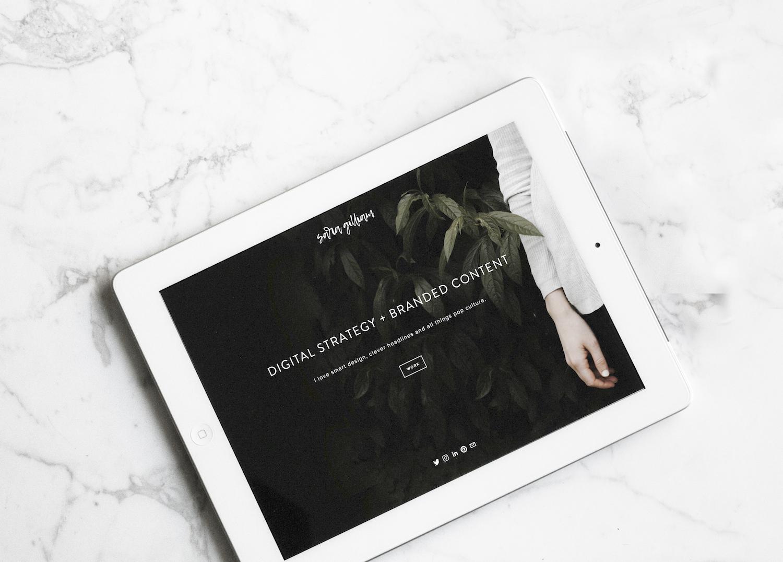 Sara Gilliam iPad Mock Up