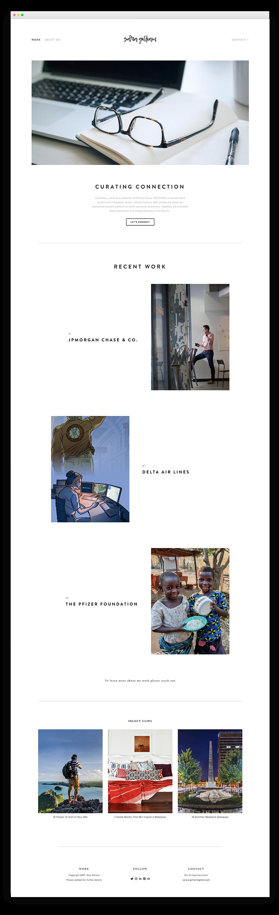 Sara Gilliam Website